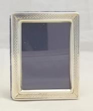Silver Picture Frame by Francis Howard. 20thc. Hallmarked Sheffield.