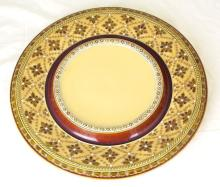 Victorian Antique Mettlach Germany Plate 19thc. Diameter 13.75 inches.