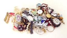 Bag of Costume Jewellery to Include: Necklaces, Bracelets and Earrings etc.