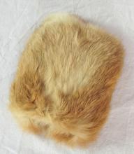Child's Rabbit Fur Vintage Hand Muff. 20thc.