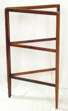 Edwardian Inlaid Mahogany Clothes Horse. Early 1900s. 30 x 36 inches.