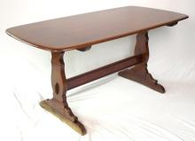 Ercol Oak Colonial Refectory Table. Height 29, Width 59, Depth 33 inches.