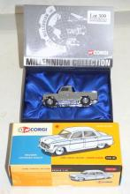 Corgi 07105 Chrome Land Rover LWB Millenium Collection Limited Edition. Corgi 50th anniversary -  (2 Items)