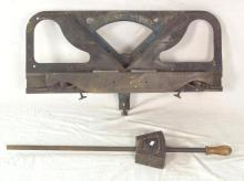 Rare Antique 'Hutchens Patent' Mitre Shoot Board Mitre Double Plane by N.Holman & Sons, St.Just.Penzance.19thc. Complete with planes/blades,blance weight and handle.Working order.