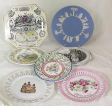 Collection of Plates to Include: Victoria Jubilee 1887 Plate,Ribbon Plates.Adams 'Cries of London' Etc. (7 Items)
