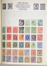 World Collection with many Older Issues from Queen Victoria in Stanley Gibbons Swiftsure Stamp Album.