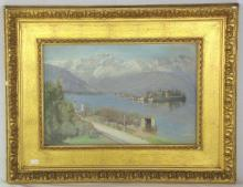 Maud Hall Neale 1889-1938. Oil on Canvass 'Antibes Cote d'Azur France' Waterscape. Signed by Maud Hall Neale lower right. Original frame. 18 x 12 inches. She studied art in Paris under Delecluse and married the artist George Hall Neale. During the years 1889-38 she exhibited at the Royal Academy, Royal Society of Portrait Painters, Royal Institute of Oil Painters, and Liverpool Academy of Arts. She left Liverpool in 1916 and moved to Airlie Gardens in Kensington, London W8