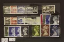 Great Britain 1963 & 1967 Castles Unmounted Mint Cat £30 SG595a/598a/759/762. Also 1969 STERLING MACHIN 2/6d - £1 HIGH VALUES SET SUPERB UNMOUNTED MINT. 1977 Machin High Value Stamps £1, £2 & £5 - Unmounted Mint. (20 High Values)