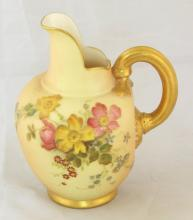 Royal Worcester Blush Ivory Floral Jug c.1903. Height 5 inches.