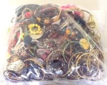 Collection of Unsorted Costume Jewellery in Sealed Bag. 3.4 kg.