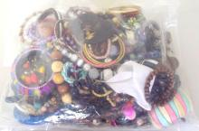 Collection of Unsorted Costume Jewellery in Sealed Bag. 3 kg.