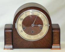 1930s Haller Art Deco Westminster Chime Mantle Clock. With key.