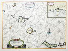 Caarte Voor een gedeelte der Canarise Eylanden als Canaria, Tenerifa, Forteventura, etc.