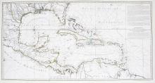 Carte d'une Partie de L'Amerique pour la Navigation des Isles et du Golfe de Mexique avec l'interieur des Terres…