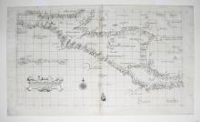 Carta particolare del'India Occidentale che contiene il Golfo de Veragua, la Baia di Honduras nel' mare del'Noort e parte del' mare di Zur