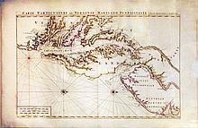 Carte Particuliere de Virginie, Maryland, Pennsilvanie, La Nouvelle Iarsey, Orient et Occidentale
