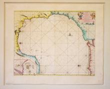 Pas Kaart van de Golff van Mexico