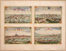 Four Views: Copenhagen, Stockholm, Vienna, Sevilla.