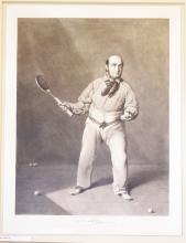 J.E. Barre, Representing him engaged in the Grand Match played in the Tennis Court - Lords Cricket Ground July 3rd 1849