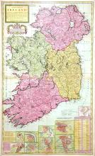 A New Map of Ireland, divided up into its Provinces