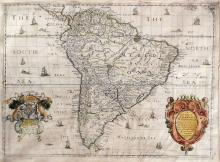 Blome's S. America Map from