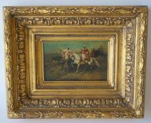 Adolph Schreyer; German Oil Painting Signed
