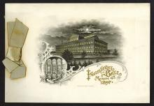 McKinley 1897 Inaugural Ball Folder With BEP Plates.