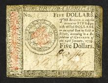 Eleventh Issue, January 14th, 1779 Continental Currency.