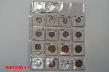 Iceland; Indonesia; Ionian Islands Coin Assortment.