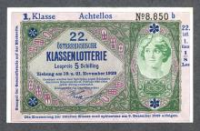 Austria, Banknote Look-a-Like Lottery Ticket. 1929.
