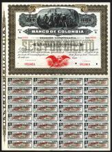 Banco De Colombia, 1905 Specimen