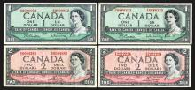 Bank of Canada. 1954 Modified Hairstyle. Replacement, special #s.