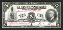 Banque Nationale. 1922 Issue.