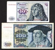 Deutsche Bundesbank Issued Notes. 1960.