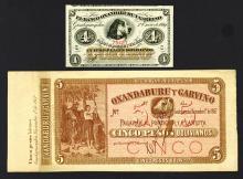 Oxandaburu y Garvino Banknote Duo.