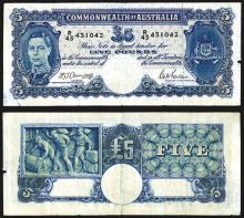 Commonwealth Bank of Australia, 1938-40 Issue Banknote