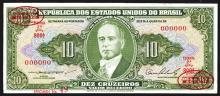 Republic dos Estados Unidos do Brazil De Larue Specimen Note. 1953-1960.
