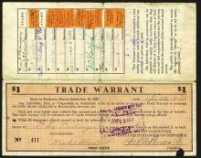 Santa Cruz Trade Warrant, 1933