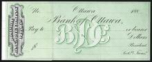 Dominion Banknote Company, Ottawa, ca. 1880's Proof Check.