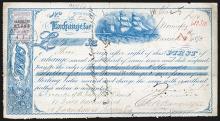 Winnipeg, Canada 1875 1st of Exchange.