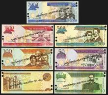 Banco Central de la Republica Dominicana Specimen Banknotes