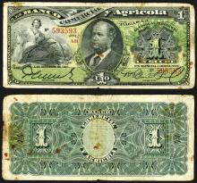 Banco Comercial y Agricola, 1903-22 Issue Banknote