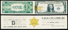 U.S. Dollar Facsimile With French Anti Semitic Message on Inside.