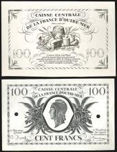 Caisse Centrale De La France D'Outre-Mer Proof Banknote.