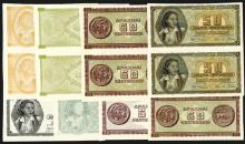 Bank of Greece 1943 Inflation Issue Progress Proof Uncut Pairs