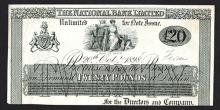 National Bank Ltd. 1898 Proof.