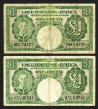 Government of Jamaica, 1939-52 Issues.