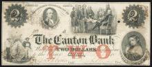 Canton Bank Obsolete Banknote.