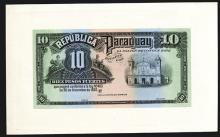 Republica Del Paraguay, 1920 Issue Proof Banknote and Possible Color Trial.