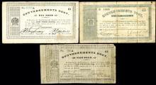 Gouvernements Noot, 1900-1901 Banknote Trio.